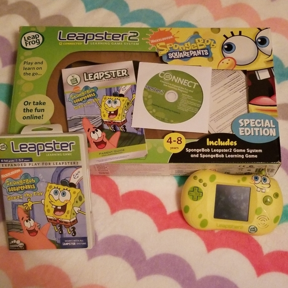 Kid's Leapster 2 Spongebob Special Edition w/Game
